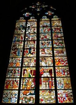 Church Window, Lead-glass Window, Painting