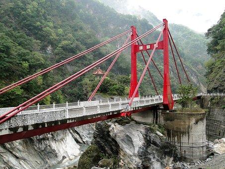 Suspension Bridge, Bridge, Cimu, Taroko, National Park