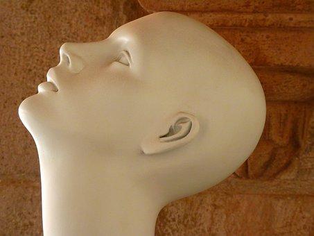 Head, Face, Bald Head, Display Dummy, Doll, Fashion