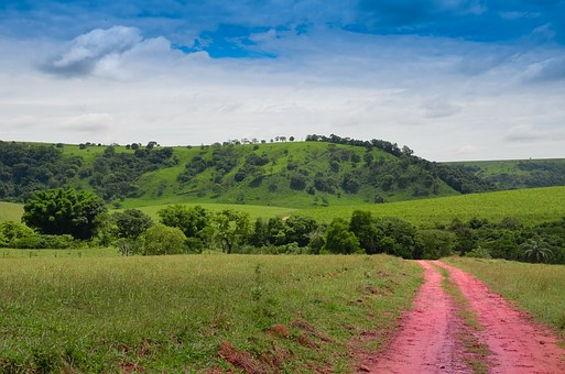 Landscape, Green, Clouds, Serrated, Brazil, Rural