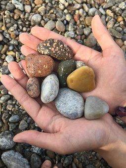 Shingle, Hand, Beach, Mont Dol Beaches