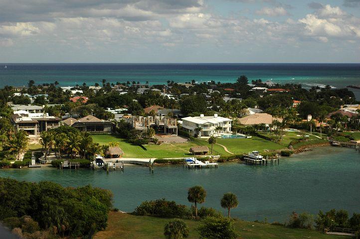 Intracoastal, Waterway, Jupiter, Florida, Ocean