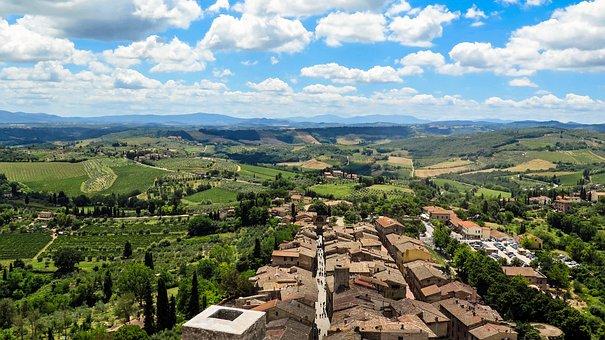 San Gimignano, Italy, Tuscany, City, Middle Ages