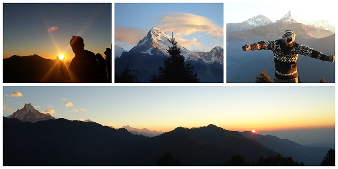 Mountains, Nepal, Travel, Blue, Trekking, Himalaya