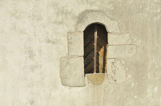Window, Wall, Shutter, Old, Stone, Building