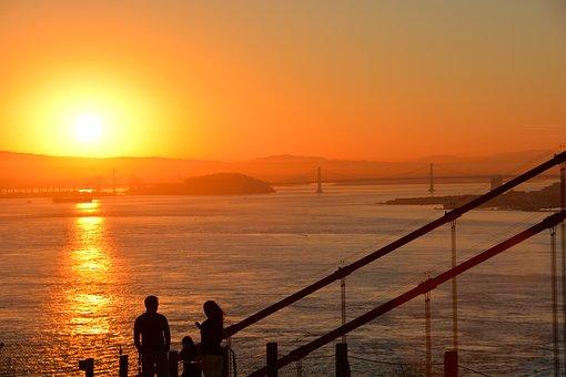 California, San Fransisco, Sunrise, America, City