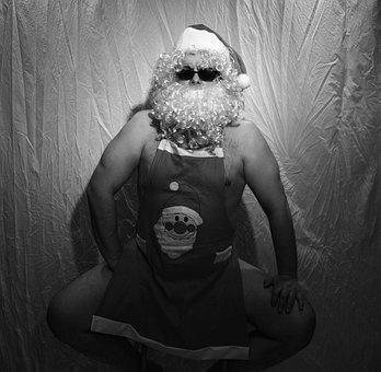 Nicholas, Act, Santa, Santa Claus, Naked, Aktfoto