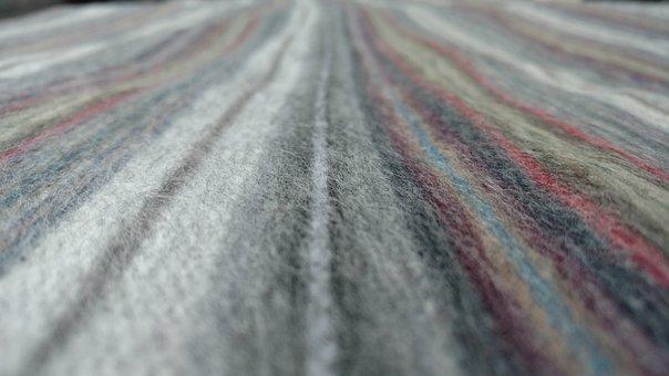 Stripes, Blanket, Gray, Resture, Woolen, Textile, Warm