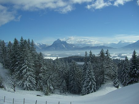 Füssener Land, Alpine, Winter, Views From The Senkele