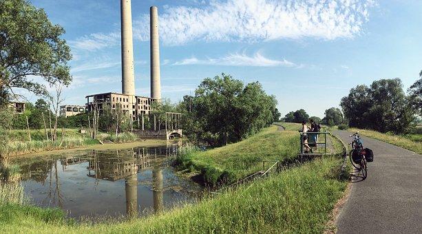 Factory, Ruin, Lapsed, Nature, Brandenburg