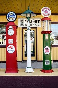Vintage, Gas Pumps, Retro, Service, Refueling, Classic