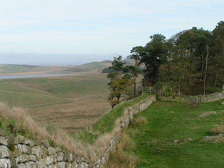 Hadrian's Wall, England, Countryside, Northumberland