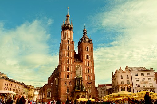 City, Buildings, Church, Poland, Square, Cracow