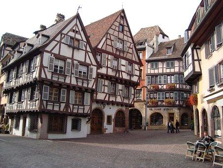 Eguisheim, France, Midieval Town, Elsace