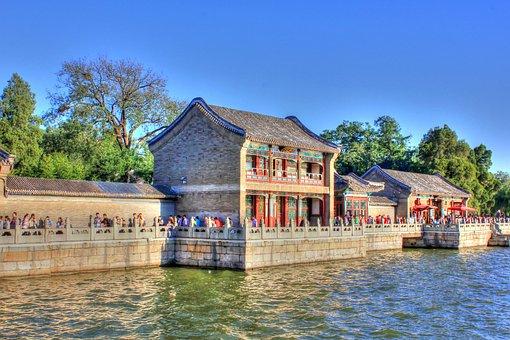 China, Beijing, Summer, Garden, Palace, Pavilion, Lake