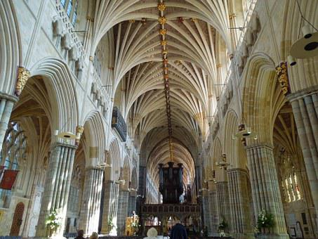 Exeter, England, Cathedrals, Gothic, Exeter Cathedral