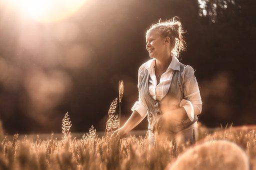 Woman, Girl, Character, One, Romance, Grain, Light
