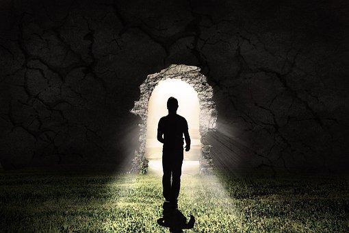 Light, In The Dark, Tunnel, Hope, Christian, Faith