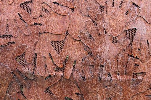 Sculpture, Hands, Stainless, Iron, Rusty, Artwork
