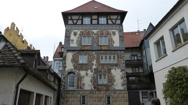 Constance, Lake Constance, Painting, Facade