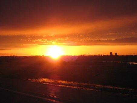Sunset, Canada, Sky, Landscapes, Twilight, Cloud