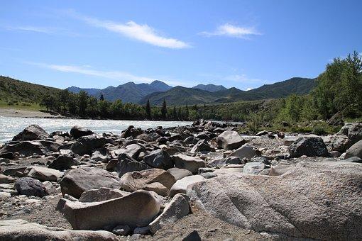 Altai, Katun, Mountain Altai, Mountain River, Mountains