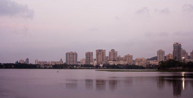 Mumbai, Bombay, Cityscape, Metropole, India, Sea, Ocean