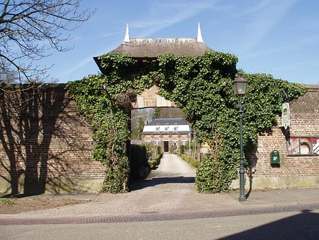 Amstenrade, Netherlands, Castle, Building, Entrance