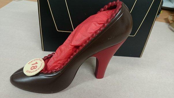 Chocolate, Gift, High Heel, Printed Chocolate, Surprise