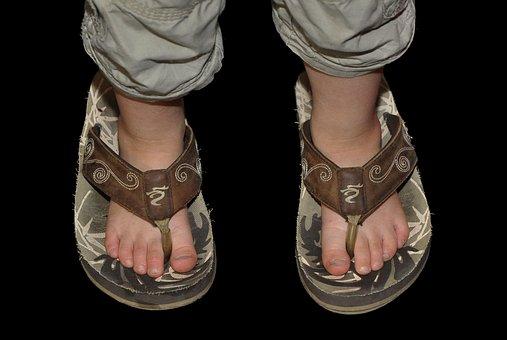 Child, Ten, Feet, Girl, Children, Sandals