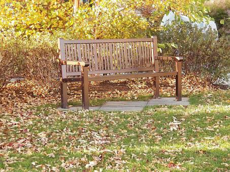 Park Bench, Bench, Seat, Seats, Rest, Relax, Autumn