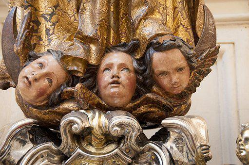 Seville, Notre Dame Cathedral Seat, Statue, Angels