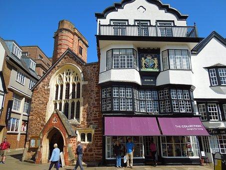 Exeter, England, Uk, United Kingdom, Architecture