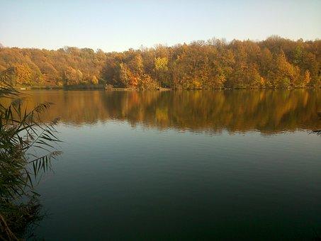 Lake, Deseda, Water, Nature, Autumn, Water Reflextion