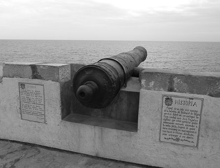 Sitges, Europe, Architecture, Spain, Cannon, Ancient