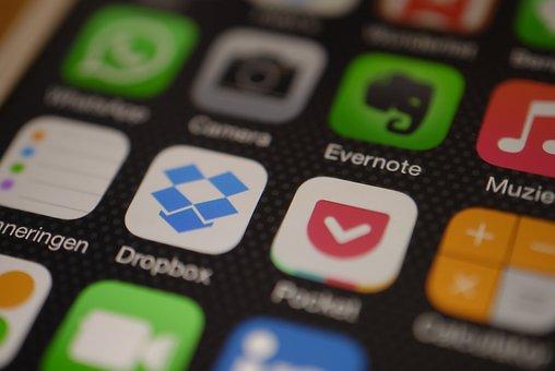 Iphone, Display, App, Dropbox, Evernote