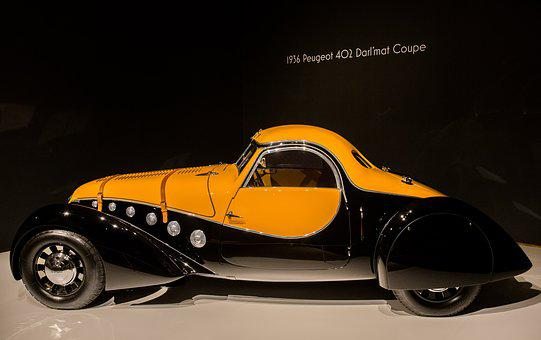 Car, 1936 Peugeot 402 Darl'mat Coupe, Art Deco