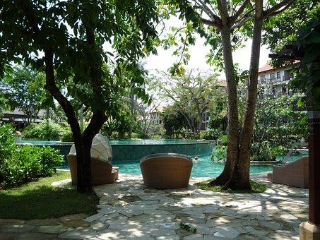 Bali, Indonesia, Swimming Pool, Hotel, Tropical, Travel