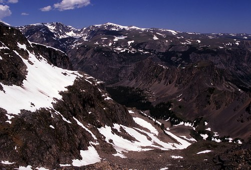 Bear Tooth Mountains, Montana, Snow, Snow Caped