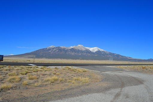 Blue Sky, Blanca Peak, Colorado, Snow, Travel, Outdoors