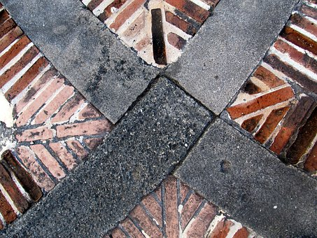 Bricks, Spot, Pattern, Bricklined, Paved, Pathway