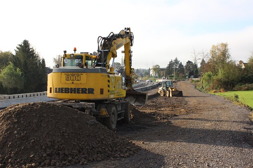 Digger, Building Lot, Construction, Working