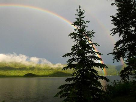Double, Rainbow, Canim Lake, British Columbia, Canada