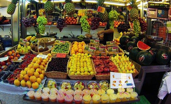 Valence, Spain, Central Market, Region Of Valencia