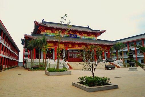 Lingshan, China, Buddhist, Buddhism, Religion, Faith