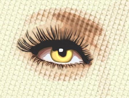 Eye, Design, Layers, Psp, Ps Cs6, Lashes, Yellow Eye