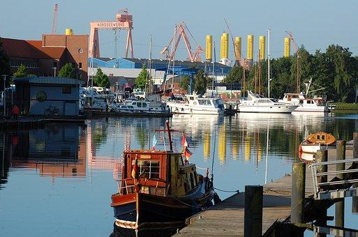 Emden, Nordseewerke, Port