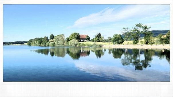 Water, Lake, Bret, Switzerland, Vaud, Landscape