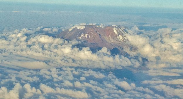 Mount Kilimanjaro, Mountain, Sky, Cloud, Rock