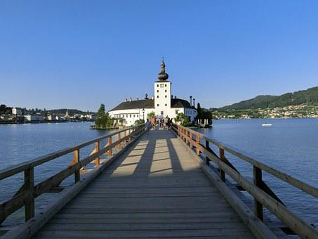 Sea Castle Place, Gmunden, Traunsee, Water, Post